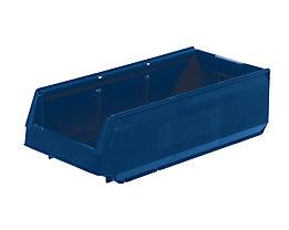 Sichtlagerkasten aus Polypropylen - LxBxH 500 x 230 x 150 mm, VE 15 Stück - blau
