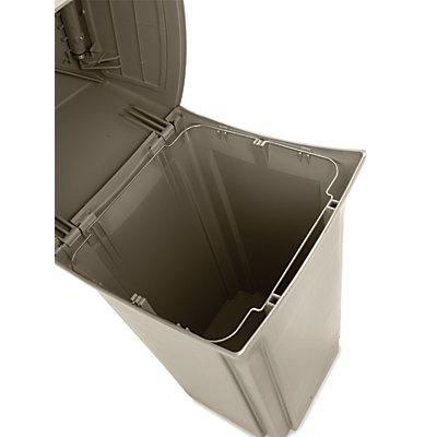 Rubbermaid Abfallbehälter (PE) - feuerhemmend, Volumen 133 Liter