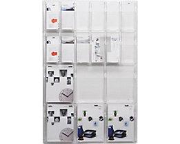 helit Wanddisplay - Fächeranzahl x Format 6 x DIN A4, 12 x 1/3 DIN A4