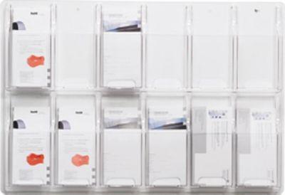 helit Wanddisplay - Fächeranzahl x Format 12 x 1/3 DIN A4 - HxBxT 518 x 762 x 51 mm