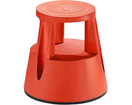 Twinco Rollhocker aus bruchsicherem Kunststoff - Tragfähigkeit 150 kg - rot, ab 10 Stk