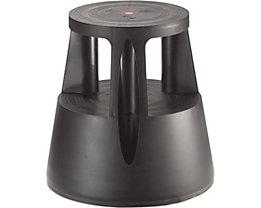 Twinco Rollhocker aus bruchsicherem Kunststoff - Tragfähigkeit 150 kg - schwarz