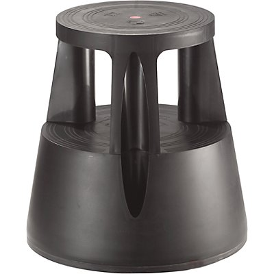 Rollhocker aus bruchsicherem Kunststoff - Tragfähigkeit 150 kg, Höhe belastet 410 mm