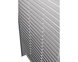 Kartensortiertafel, für DIN A4 - Höhe 1350 mm - 3 x 25 Taschen