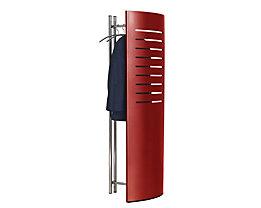 Garderobe mit Sichtschutz - inkl. 5 Kleiderbügeln - HxBxT 1700 x 600 x 400 mm, rubinrot