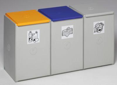 Wertstoff-Trenn- und Sammelbehälter - als 3-fach Sammelstation
