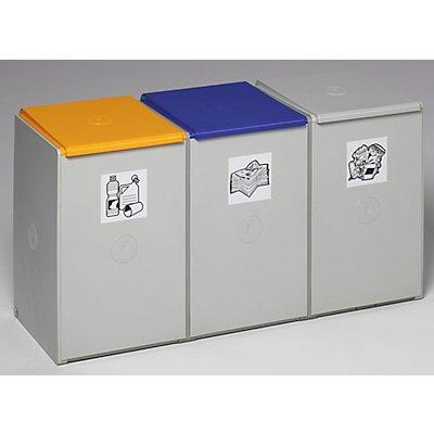 Poubelle de tri - poste 3 poubelles