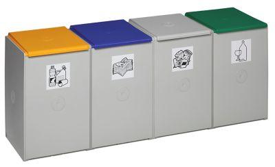 Wertstoff-Trenn- und Sammelbehälter - als 4-fach Sammelstation