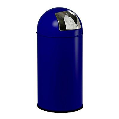 Push-Abfallsammler BULLET PUSH, Stahlblech - Volumen 40 l, H x Ø 740 x 340 mm
