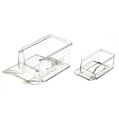Sichtlagerkasten aus SAN - glasklar, VE 25 Stk