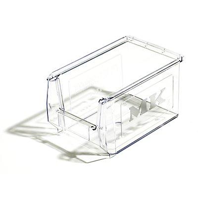 mauser Sichtlagerkasten aus SAN - glasklar, VE 25 Stk