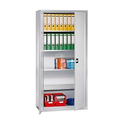 EUROKRAFT Materialschrank - HxBxT 1950 x 950 x 500 mm, 4 Fachböden