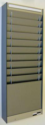Dokumentensortiertafel - 1 x 10 Fächer, DIN A4, Dokumentenlage vertikal