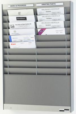 Dokumentensortiertafel - 2 x 10 Fächer, DIN A4, Dokumentenlage vertikal