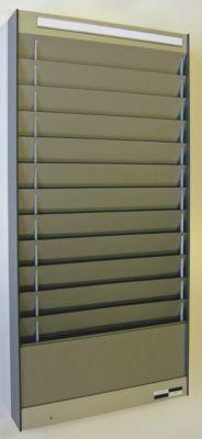 Dokumentensortiertafel - 1 x 12 Fächer, DIN A4, Dokumentenlage horizontal