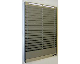 Tableau de tri - 2 x 18 casiers A5, position horizontale des documents - aluminium