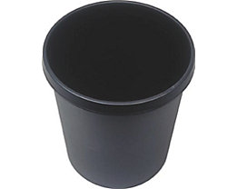 helit Kunststoff-Papierkorb - Inhalt 18 l, Höhe 320 mm, VE 6 Stk - schwarz, VE 6 Stk