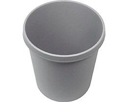 helit Kunststoff-Papierkorb - Inhalt 18 l, Höhe 320 mm, VE 6 Stk - lichtgrau, VE 6 Stk