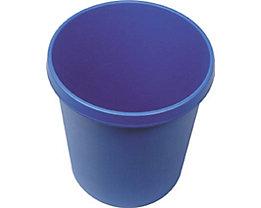 helit Kunststoff-Papierkorb - Inhalt 18 l, Höhe 320 mm, VE 6 Stk - blau, VE 6 Stk