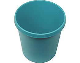 helit Kunststoff-Papierkorb - Inhalt 18 l, Höhe 320 mm, VE 6 Stk - grün, VE 6 Stk