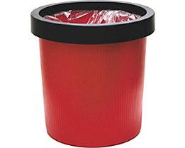 Bague de maintien en plastique - lot de 6, pour corbeille à papier de 18 l - noir