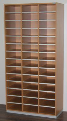 office akktiv Sortierregal, breit - HxBxT 1864 x 913 x 420 mm, 42 Fächer DIN A4