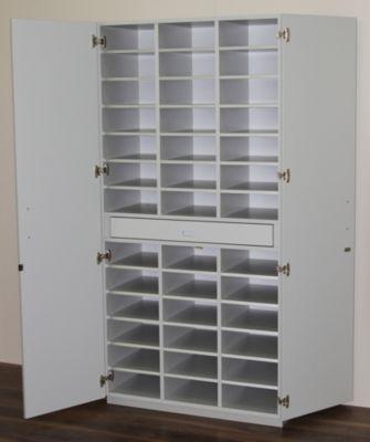office akktiv Sortierschrank mit Flügeltüren und Sortiertisch - HxBxT 1864 x 913 x 440 mm, 39 Fächer