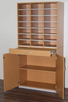 office akktiv Sortierstation, breit - HxBxT 1864 x 913 x 440 mm, 21 Fächer DIN A4