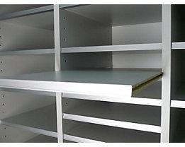 fm büromöbel Sortierfachboden, VE 5 Stk - BxT 279 x 350 mm - lichtgrau