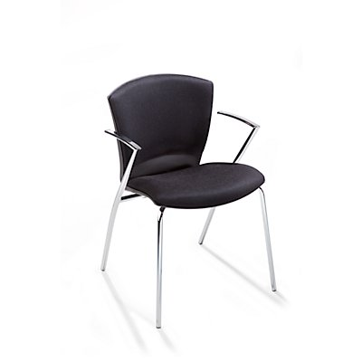 Rocada Polster-Stapelstuhl - Sitz HxBxT 460 x 450 x 420 mm, VE 2 Stk