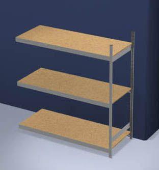 Großfach-Steckregal mit Spanplatten - Höhe 2000 mm, Breite 2000 mm, Feldlast 1200 kg