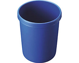 helit Kunststoff-Papierkorb - Inhalt 45 l, Höhe 480 mm, VE 2 Stk - blau, VE 2 Stk