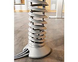 HAMMERBACHER Kabelspirale für vertikale Elektrifizierung - für Höhe 720 – 1160 mm - silberfarben | CKXE/S