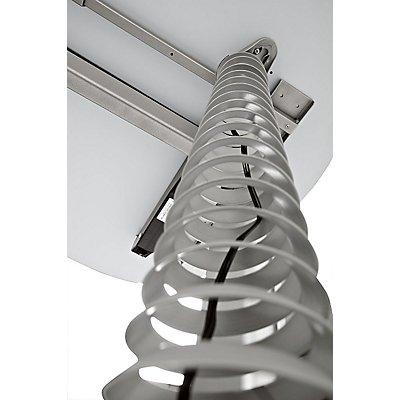 HAMMERBACHER Kabelspirale für vertikale Elektrifizierung - für Höhe 720 – 1160 mm - silberfarben   CKXE/S