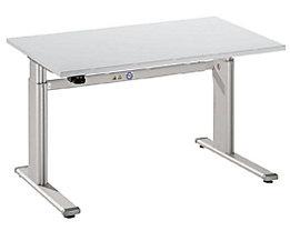 UPLINER Stehschreibtisch, elektrisch höhenverstellbar - 655 – 1300 mm, BxT 1200 x 800 mm