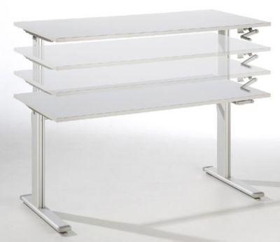 UPLINER Stehschreibtisch, manuell höhenverstellbar - 725 – 1185 mm, BxT 1600 x 800 mm