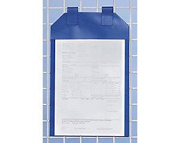 Einstecktaschen magnetisch, VE 50 Stk - für Papierformat DIN A4 - Sichtfläche HxB 380 x 240 mm