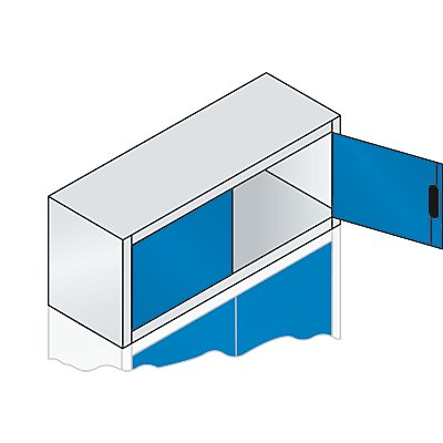 CP Aufsatzschrank mit Flügeltüren - HxBxT 500 x 1200 x 400 mm