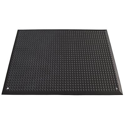 Arbeitsplatzmatte, schwarz - aus Polyurethan - LxB 950 x 650 mm
