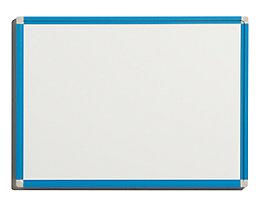 QUIPO Weißwandtafel - Rahmen lichtblau - BxH 600 x 450 mm