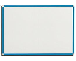 QUIPO Weißwandtafel - Rahmen lichtblau - BxH 900 x 600 mm