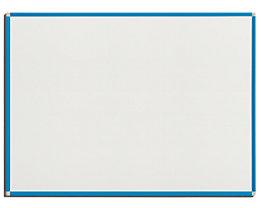 QUIPO Weißwandtafel - Rahmen lichtblau - BxH 1200 x 900 mm