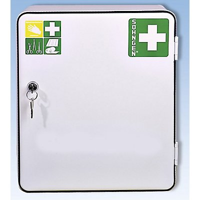 Verbandschrank nach DIN 13157 - eintürig, weiß, HxBxT 362 x 302 x 140 mm