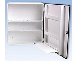 Verbandschrank nach DIN 13169 - eintürig, weiß, HxBxT 552 x 452 x 170 mm - ohne Inhalt