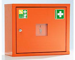 Verbandschrank nach DIN 13157 - eintürig, signalorange, HxBxT 420 x 490 x 200 mm