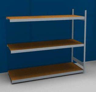 Großfach-Steckregal mit Spanplatten - Höhe 2000 mm, Breite 2250 (2 x 1125) mm, Feldlast 1200 kg