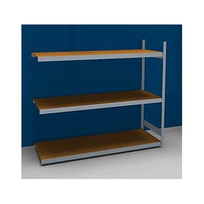 hofe Großfach-Steckregal mit Spanplatten - Höhe 2000 mm, Breite 2250 (2 x 1125) mm, Feldlast 1200 kg