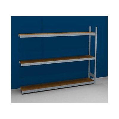hofe Großfach-Steckregal mit Spanplatten - Höhe 2000 mm, Breite 2500 (2 x 1250) mm, Feldlast 1200 kg