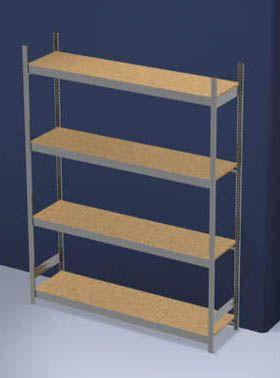 Großfach-Steckregal mit Spanplatten - Höhe 2500 mm, Breite 2000 mm, Feldlast 1750 kg