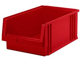 Sichtlagerkasten aus Polypropylen - Inhalt 22,5 l, VE 8 Stk - rot